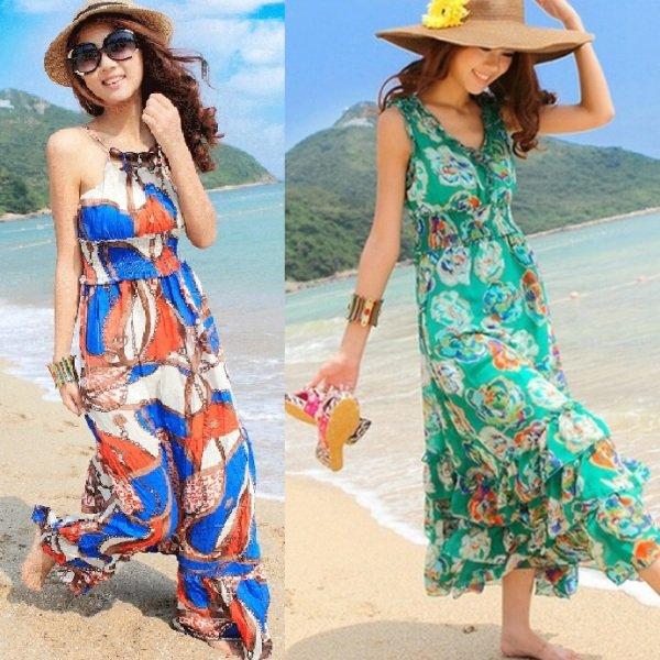 на фото пляжные платья