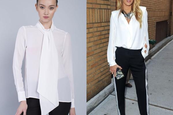 Модные белые блузки 2017
