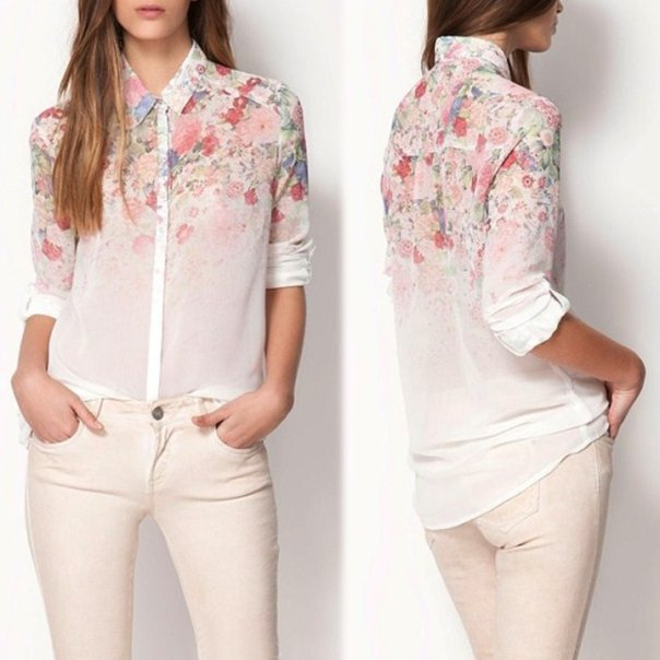 блузка на лето 2014 из шифона
