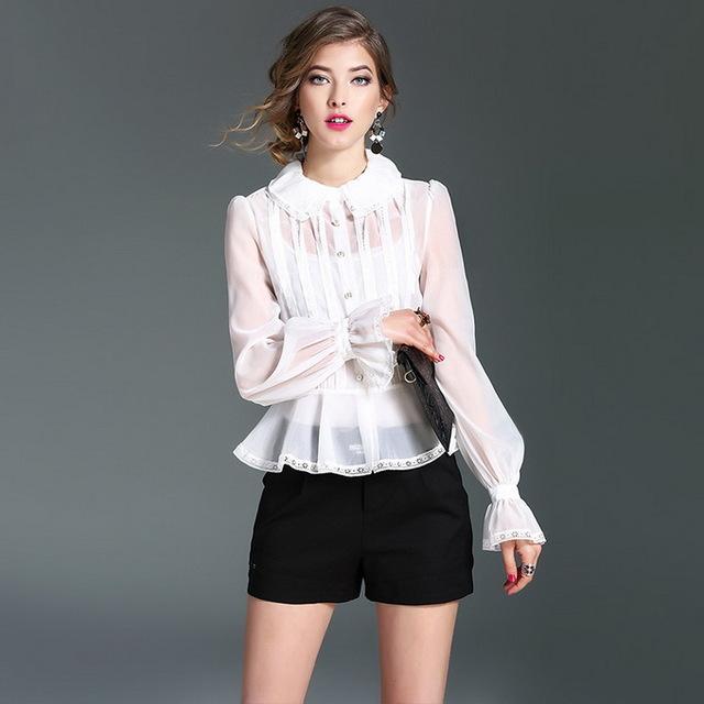 модная блузка из шифона 2017