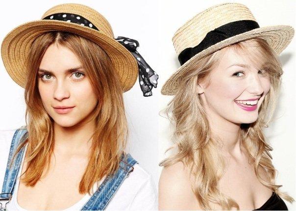 на фото шляпы канотье