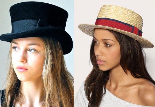 шляпы канотье на фото