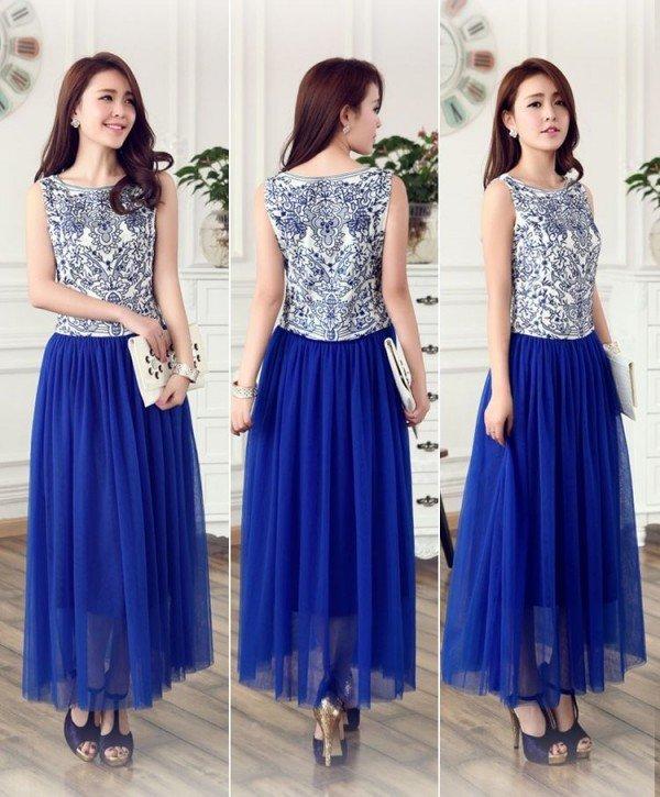 на фото платье в китайском стиле