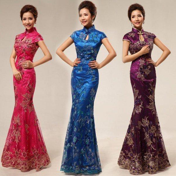вечерние платья в китайском стиле на фото