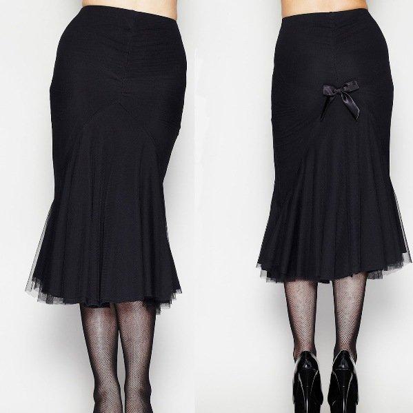 фасон юбки годе на фото