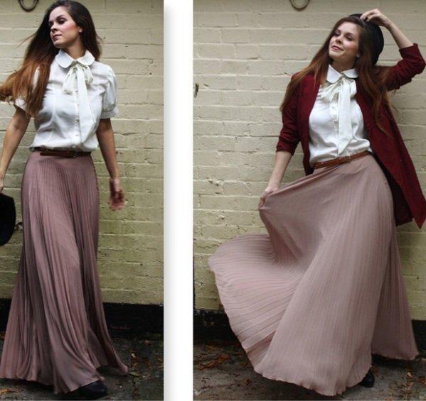 модный фасон юбки в пол на фото
