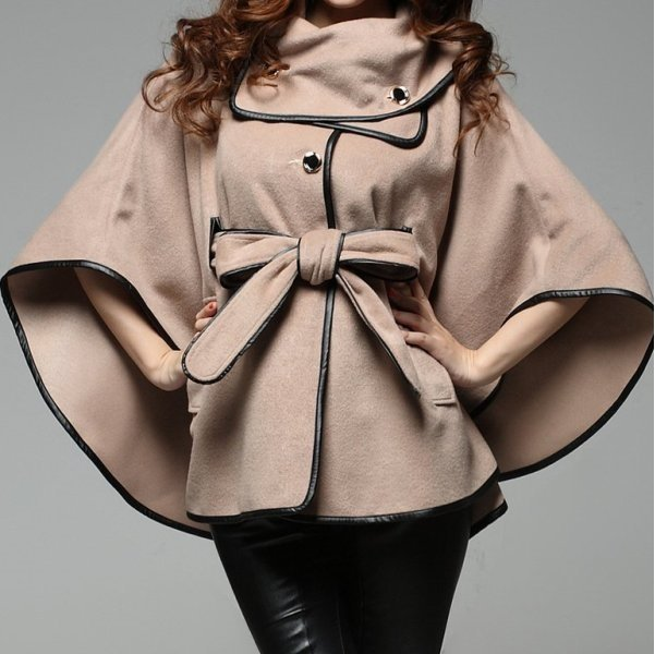 пальто кейп на фото