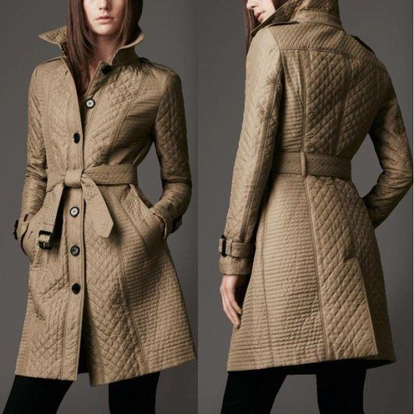 стёганые пальто на фото