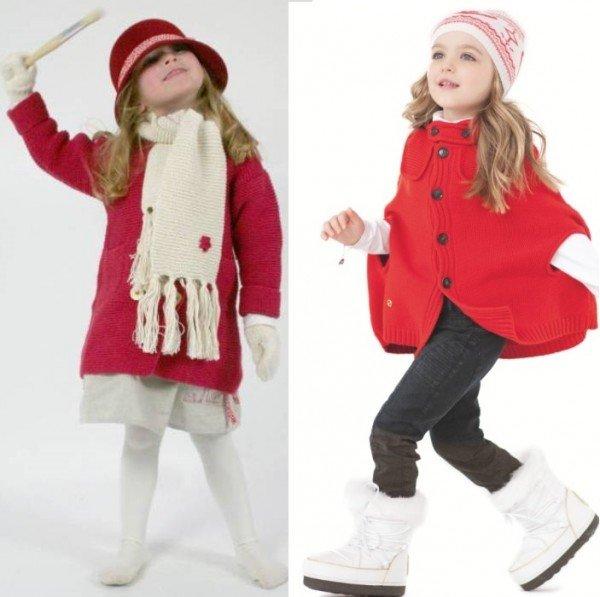 детские вязаные пальто на фото