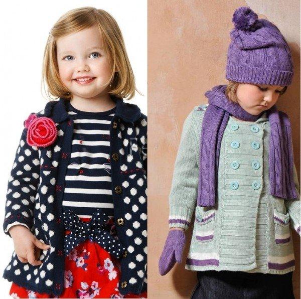 фото детских вязаных пальто