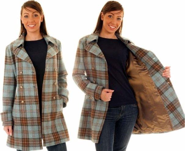 фото женского пальто в клетку