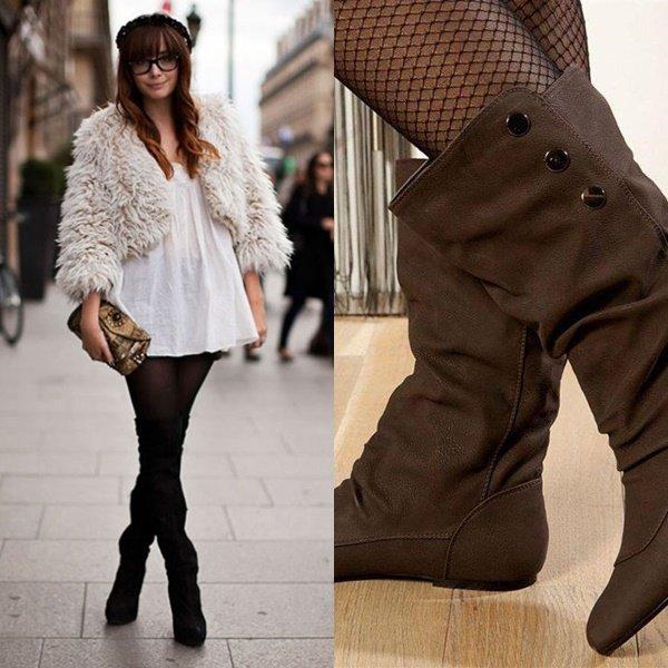 модные зимние сапоги на фото
