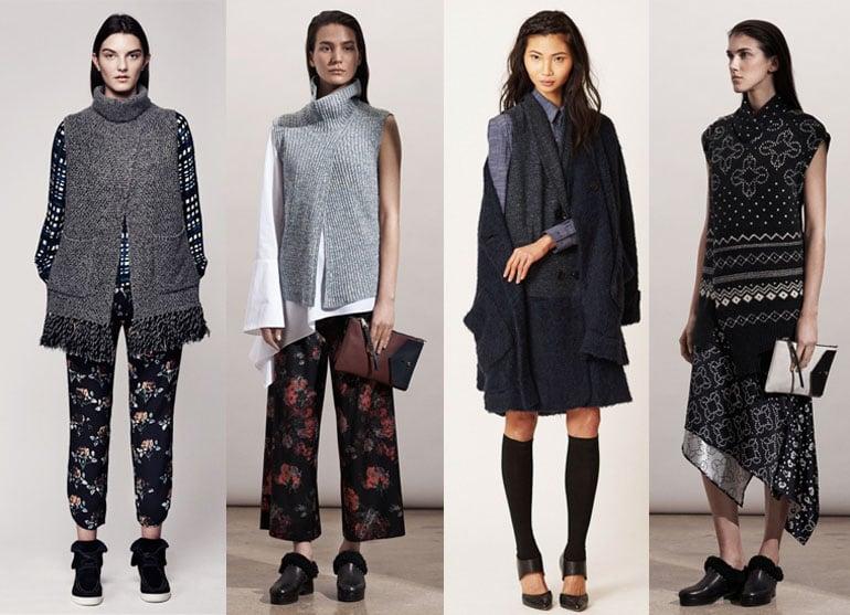 Интересные модные трикотажные платья с принтами