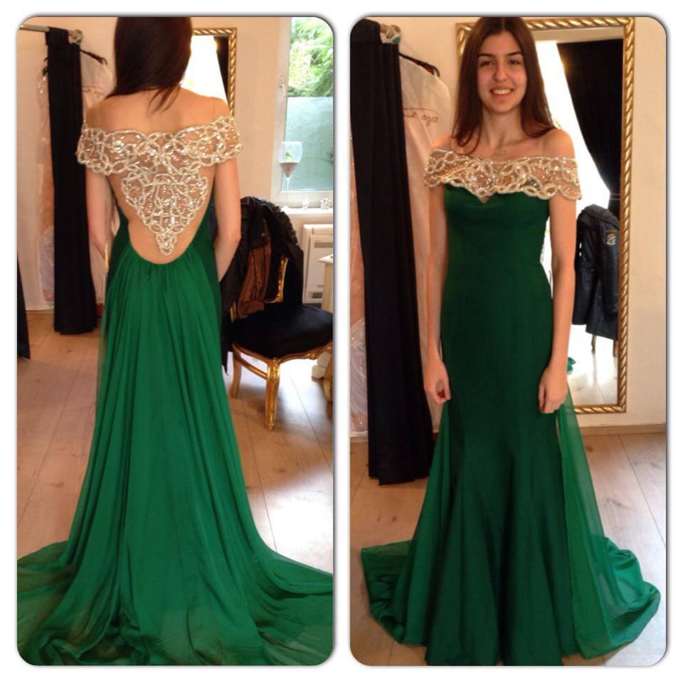 Фасон платья зеленого цвета 85