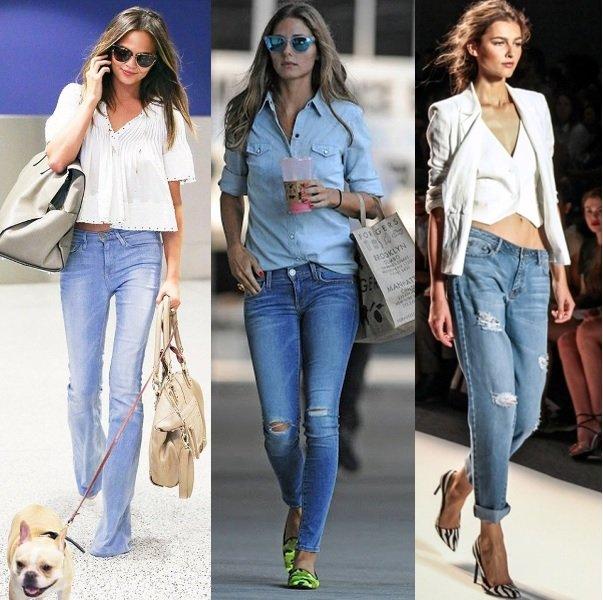 джинсовая мода на фото