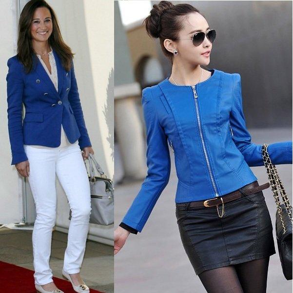 синий цвет в одежде на фото