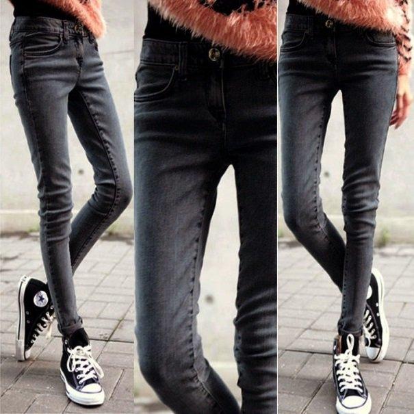 женские джинсы скинни на фото