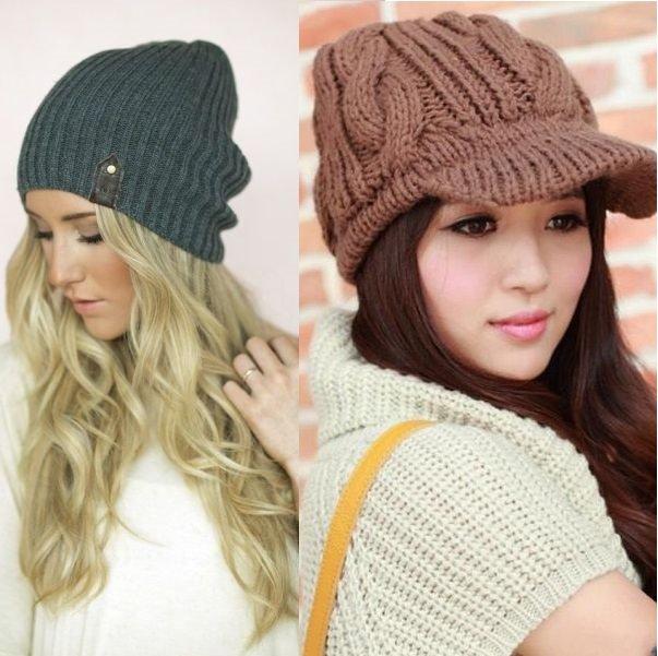 фото вязаных шапок для женщин