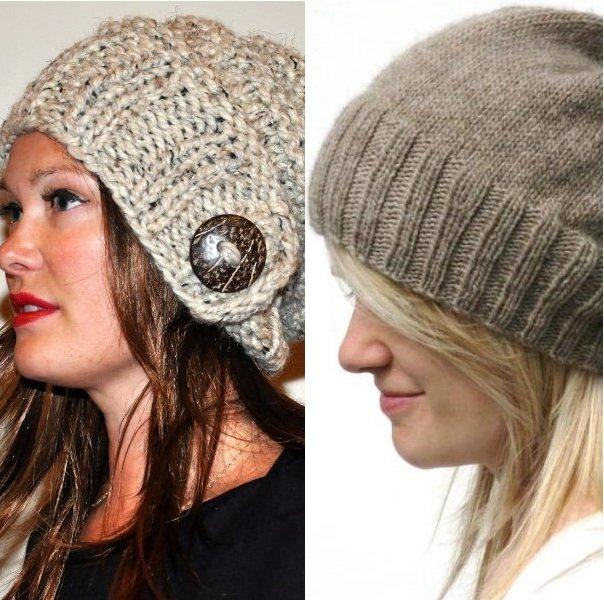 Модная женская шапка связанная своими руками 96