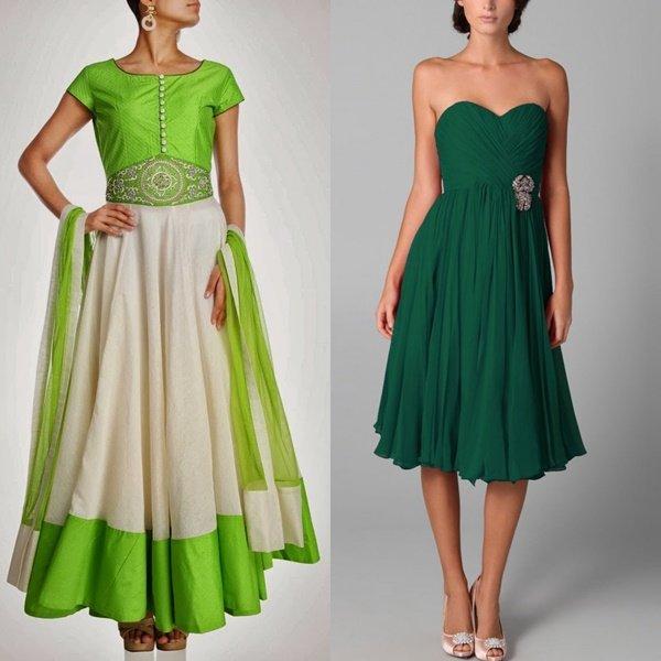 платья зеленого цвета на фото