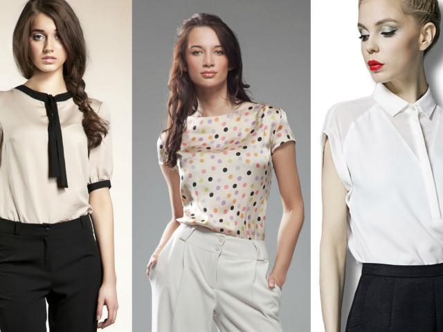 Модные женские блузки 2017