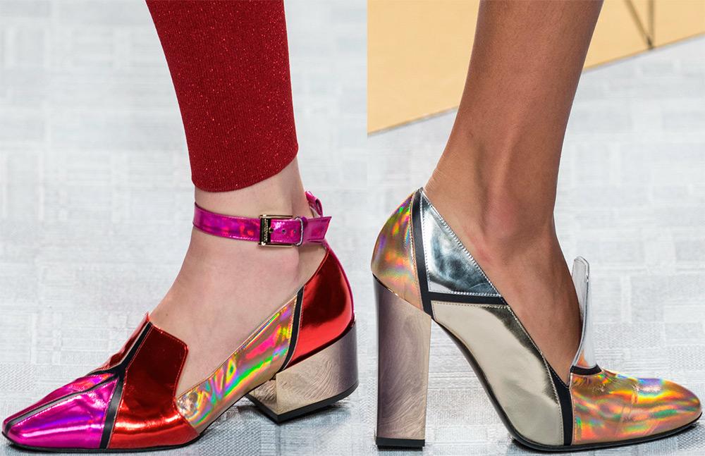 12255dfd4611 Будут очень популярны и туфли на крайне высоком каблуке с пестрой  леопардовым принтом или яркой раскраской. Девушки, которые любят необычные  дополнения к ...