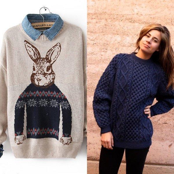 женские пуловеры на фото