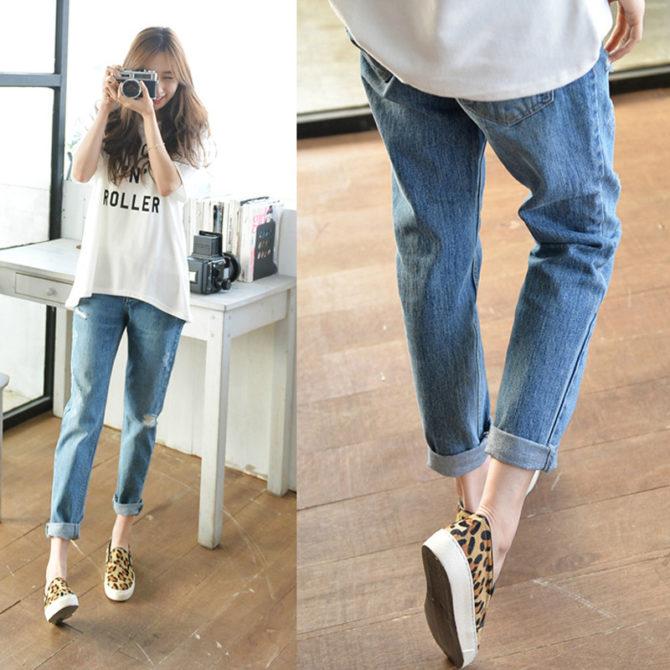 с чем носить джинсы бойфренды в 2017