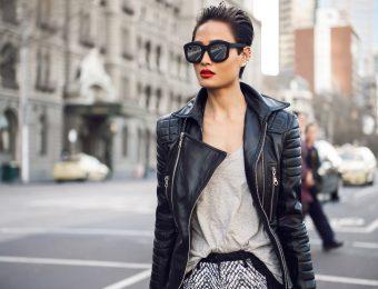 Женский кожаный жакет в 2017 году на пике моды и популярности