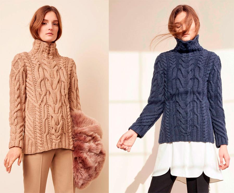модные вязанные свитера женские 2016 2017 схемы