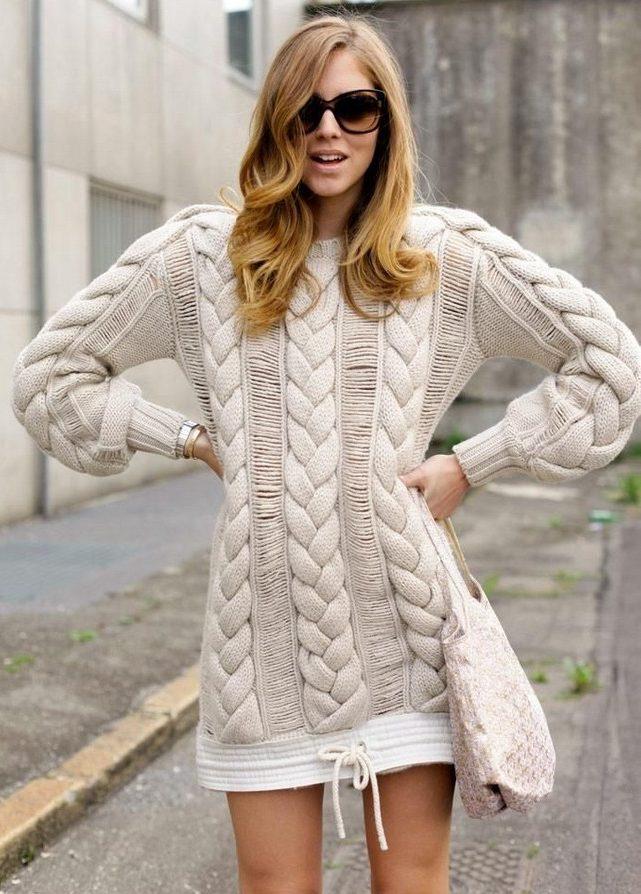 Зимние свитера женские 2017