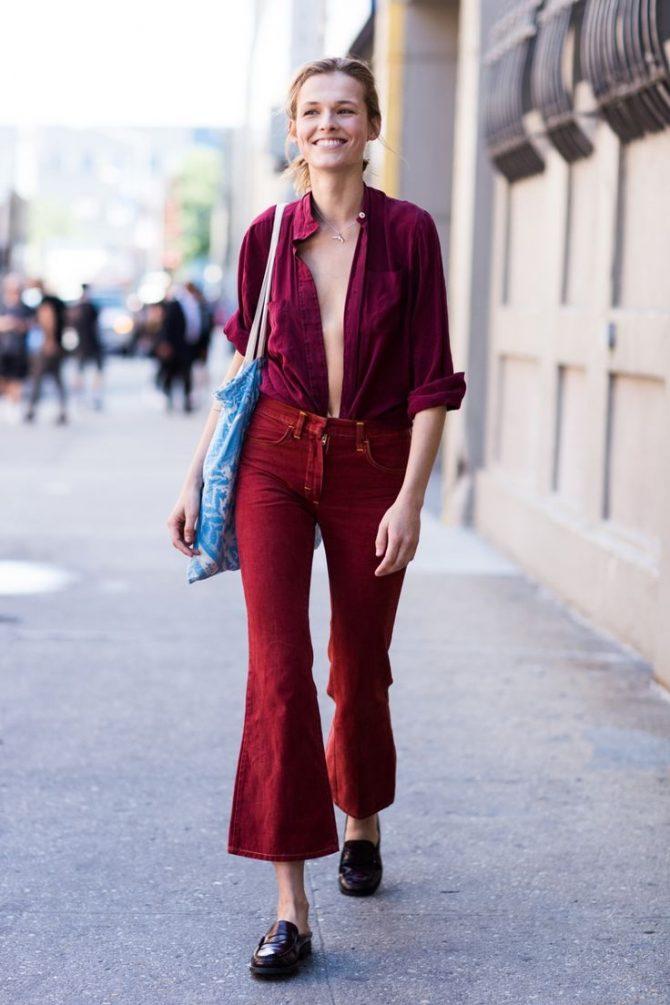 Женские брюки-клеш 2017