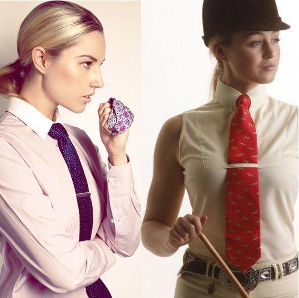 модные женские галстуки на фото