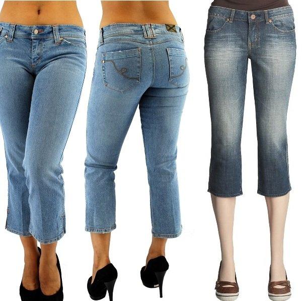 джинсовые капри на фото