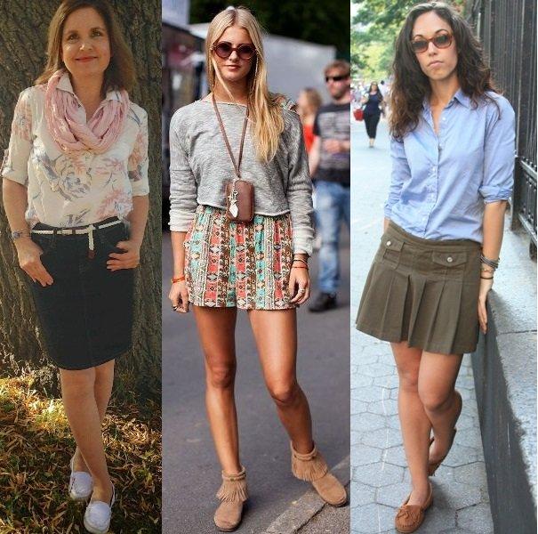 Носят ли юбки с мокасинами