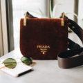 Бархатная сумка Prada