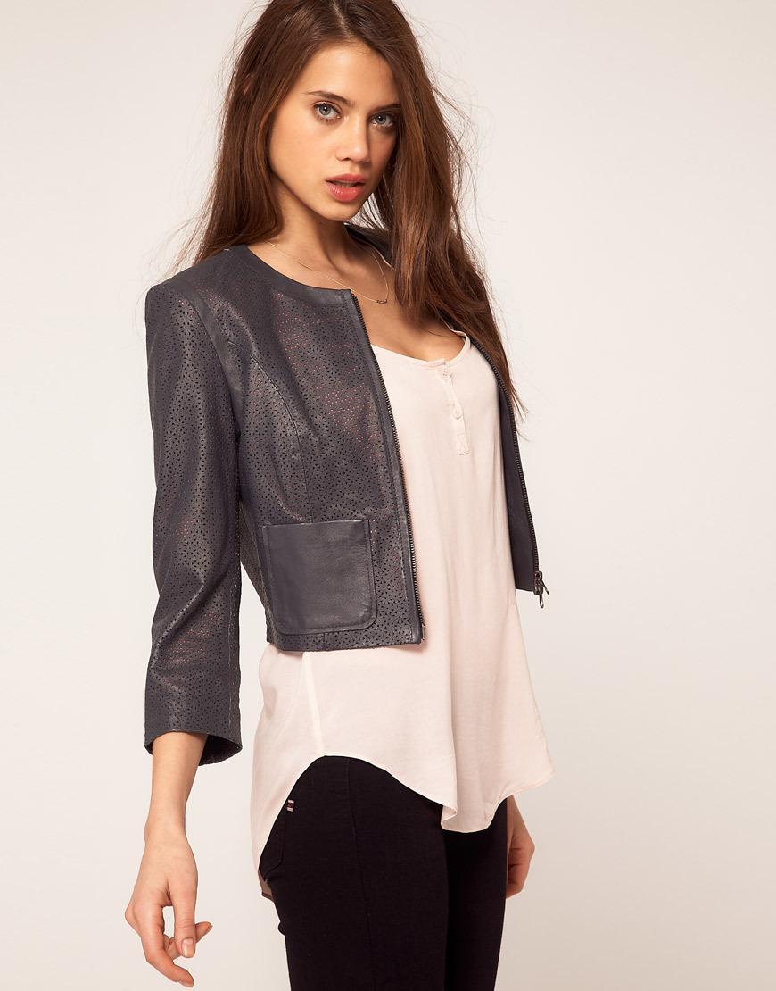 женские кожаные короткие куртки фото