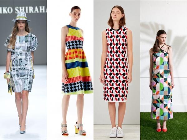 Платья с геометрическими принтами