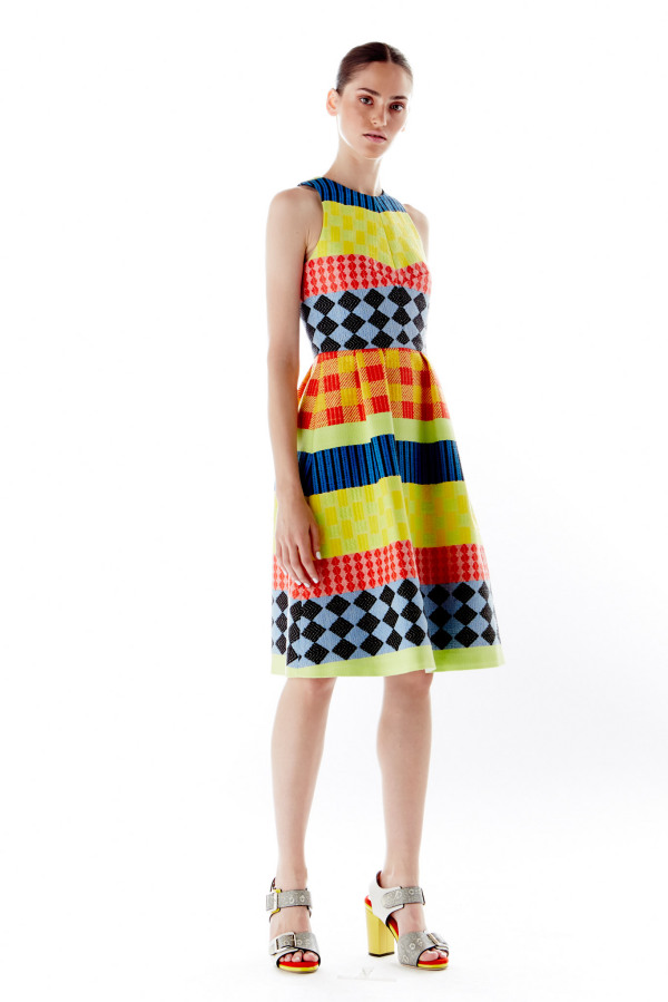 Платье с геометрическим узором