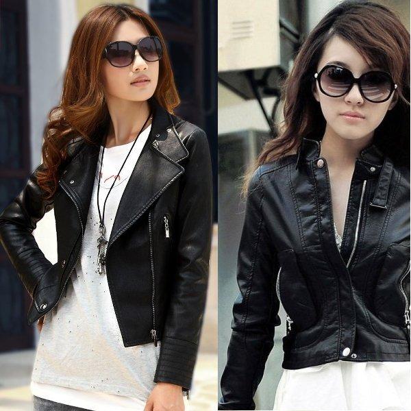 модные кожаные куртки 2017 женские фото