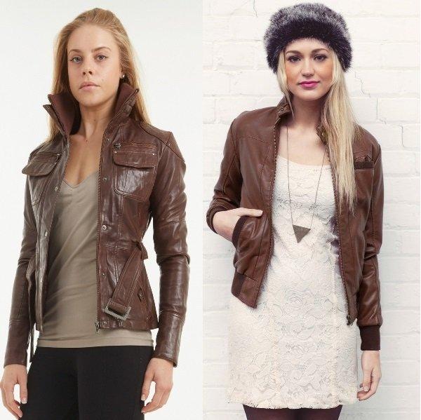 Модели в коричневых косухах