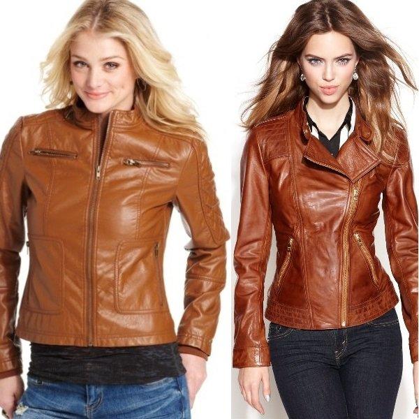 Женские Кожаные Куртки Весна