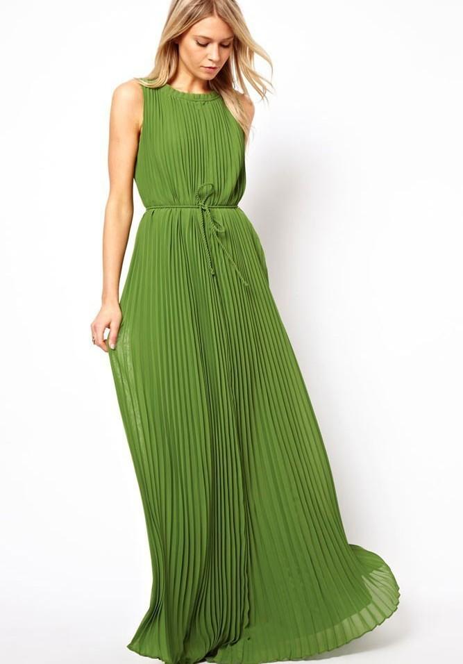 Шифоновое платье 2017