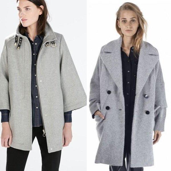 пальто с широким рукавом на фото