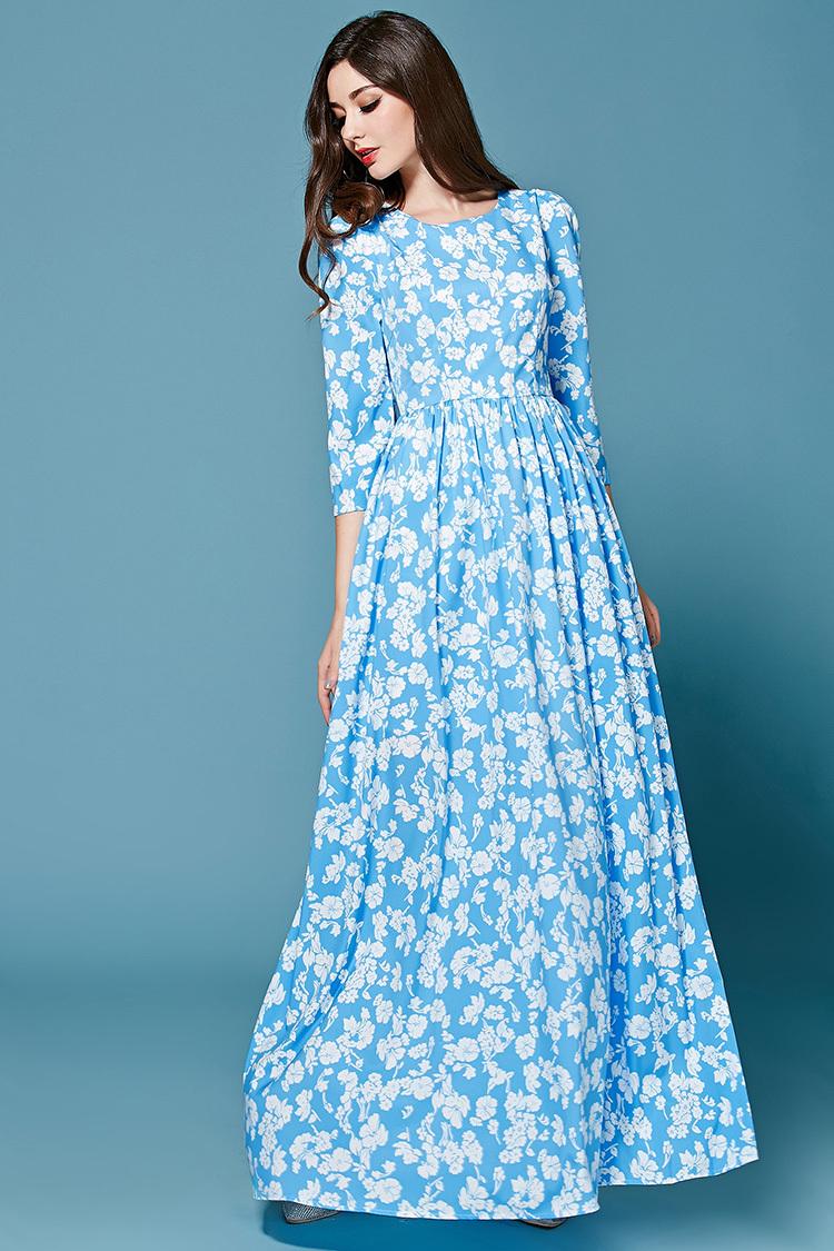 ba00b085163 Модные платья с цветочным принтом 2017 - шифоновые