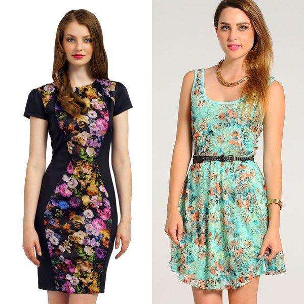 цветочные платья на фото