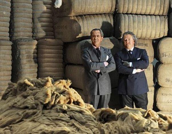 Братья-управляющие компании Серджио и Пьер Луиджи «Лоро Пьяна»