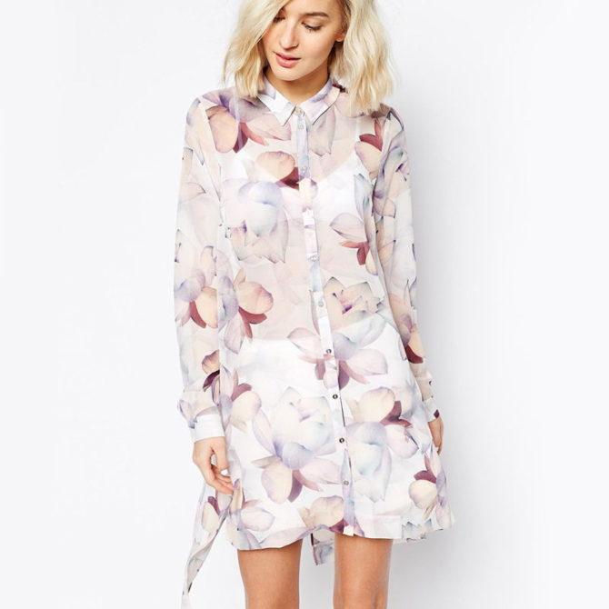 Короткое платье рубашка 2017