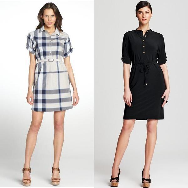 Черное платье модное в году с рукавом