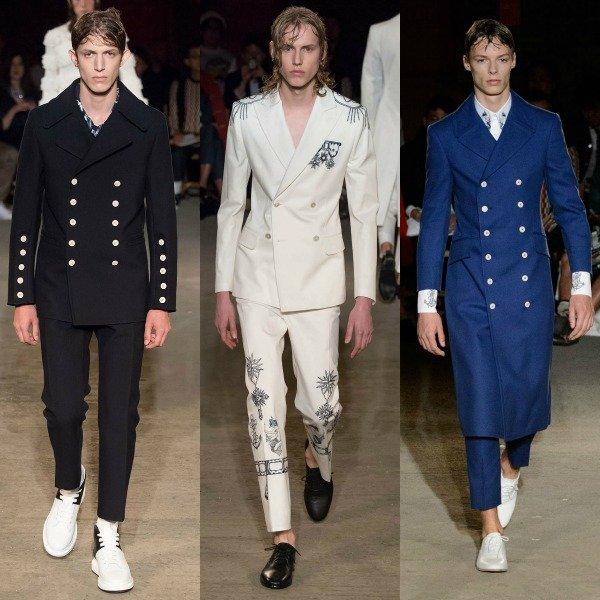 модели на показе коллекции дизайнера Alexander McQueen